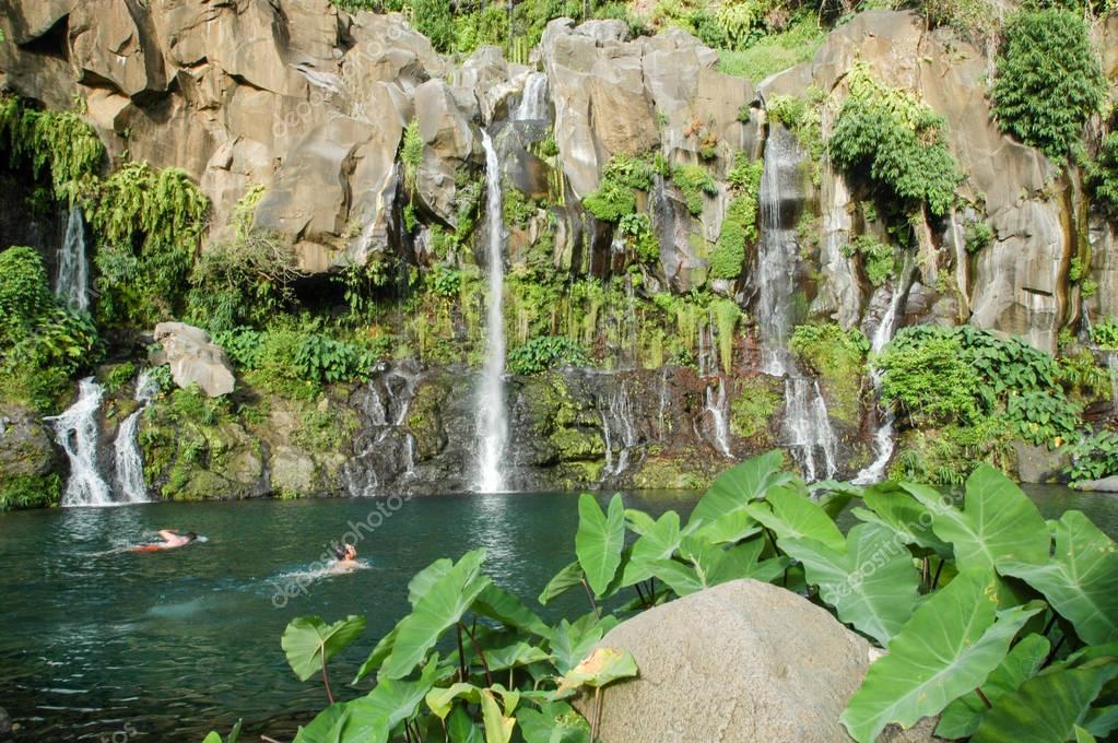 Les Cormorans waterfall