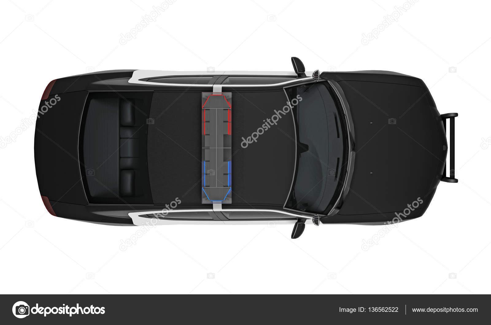 Vue de dessus de voiture de police 3d rendering photographie petrovv 136562522 - Voiture vue de haut ...