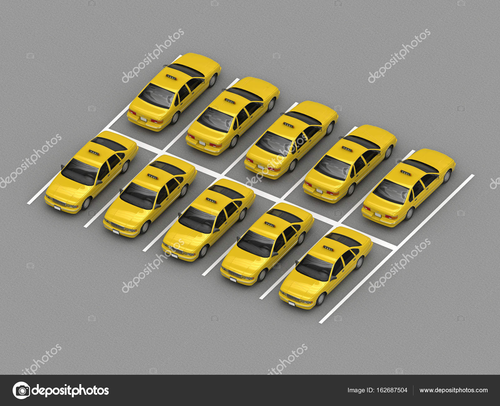 taxi car parking Orthographic view — Stock Photo © petrovv #162687504