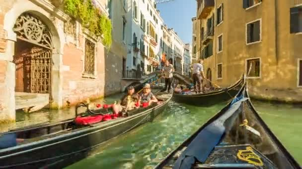 In gondola on the canals of Venice