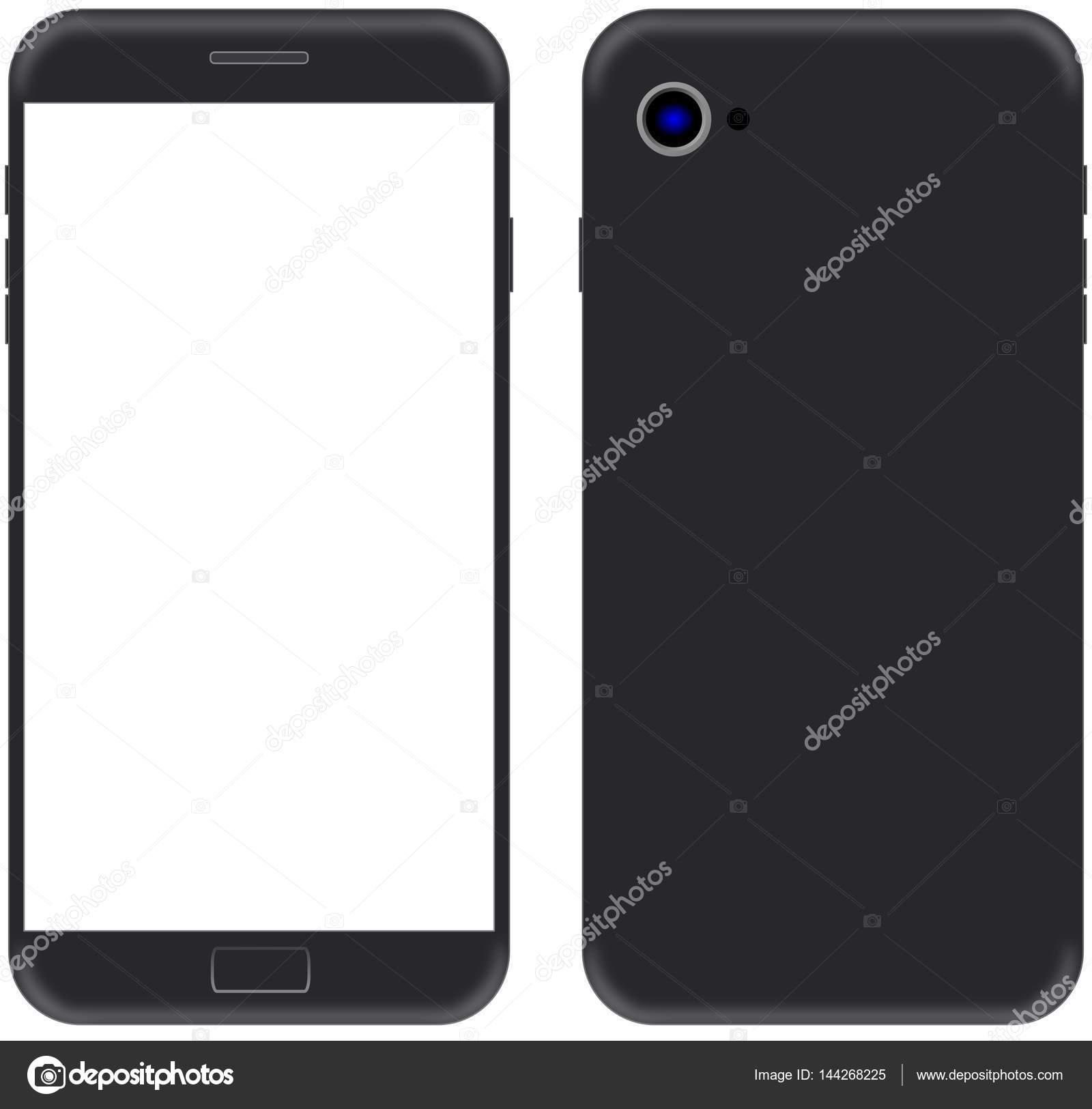 Moderno Smartphone con Marcos delgados en color negro con pantalla ...