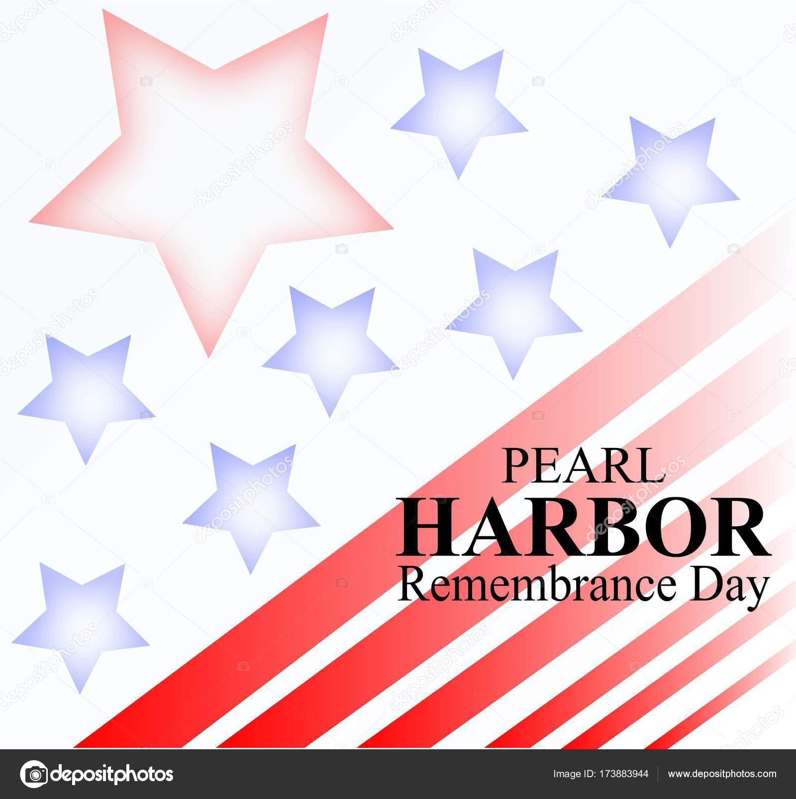 真珠湾攻撃記念日の背景のベクトル イラスト ストックベクター