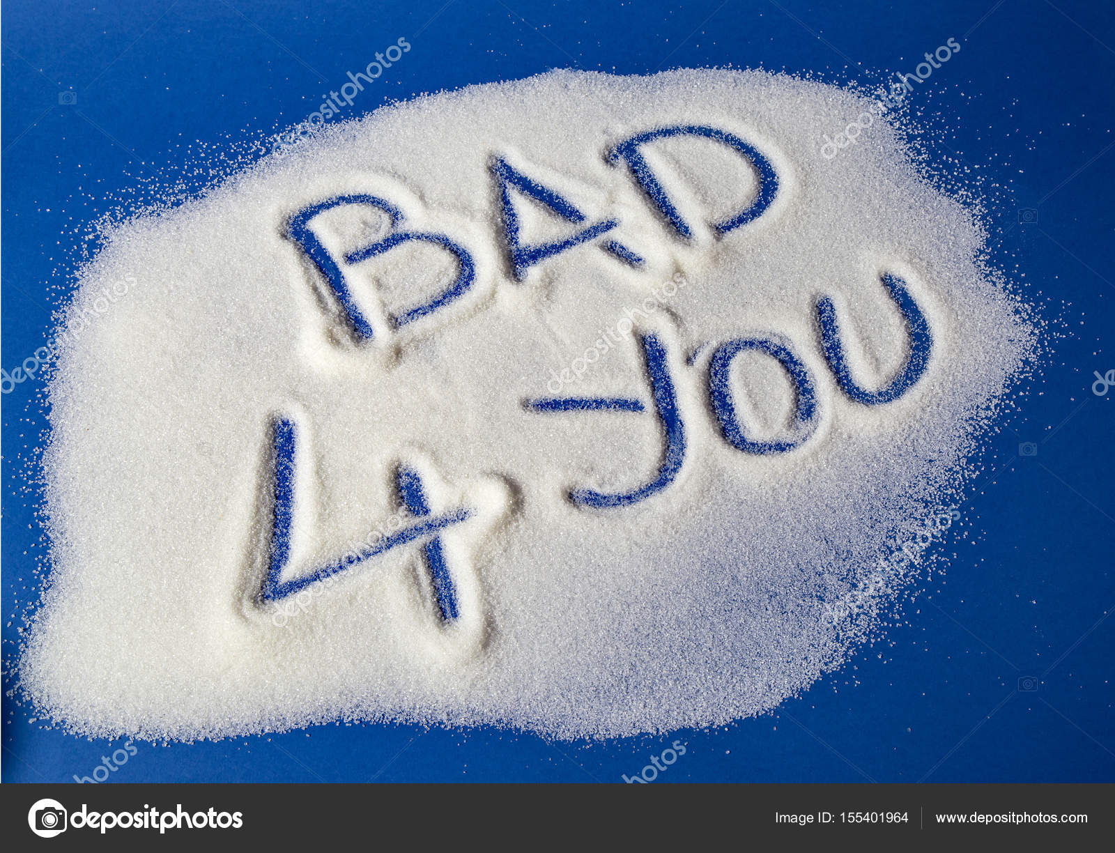 Bad For You Written With Sugar Stock Photo Hriana 155401964