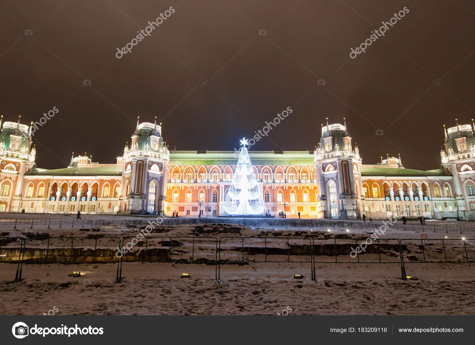 Moskau Russland Januar Panorama Von Zarizyno Museum Während Der ...
