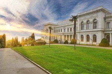 View of the park complex Livadia Palace. Yalta Crimea