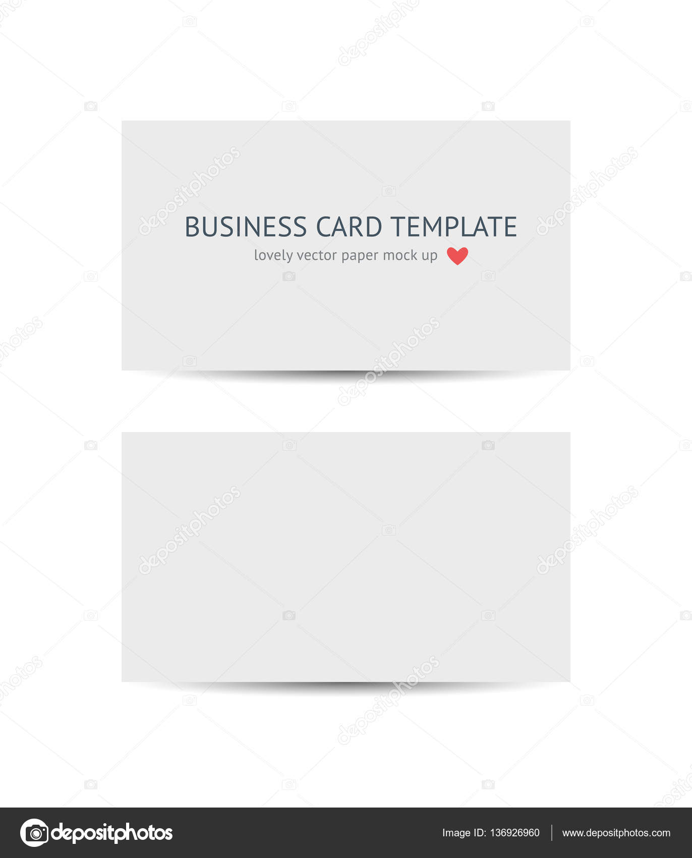 Business cards blank mockup template stock vector voinsveta business cards blank mockup template stock vector reheart Image collections