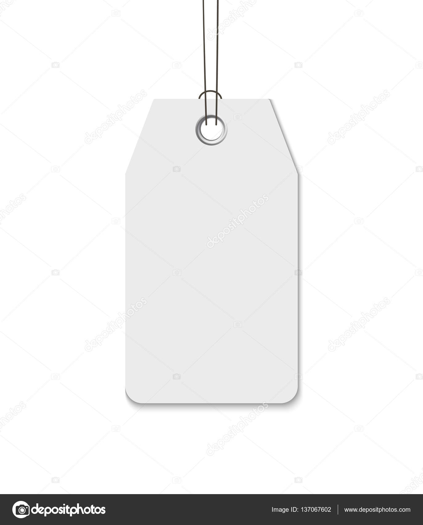 Etiqueta en blanco con la secuencia aislada sobre fondo blanco ...