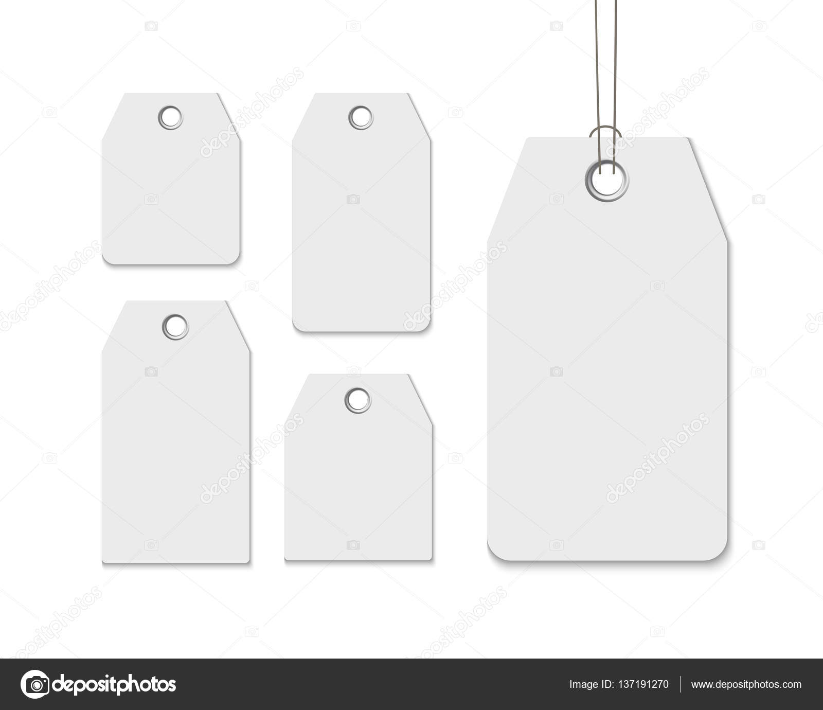 Blank labels template price tags set realistic vector – Blank Label Template