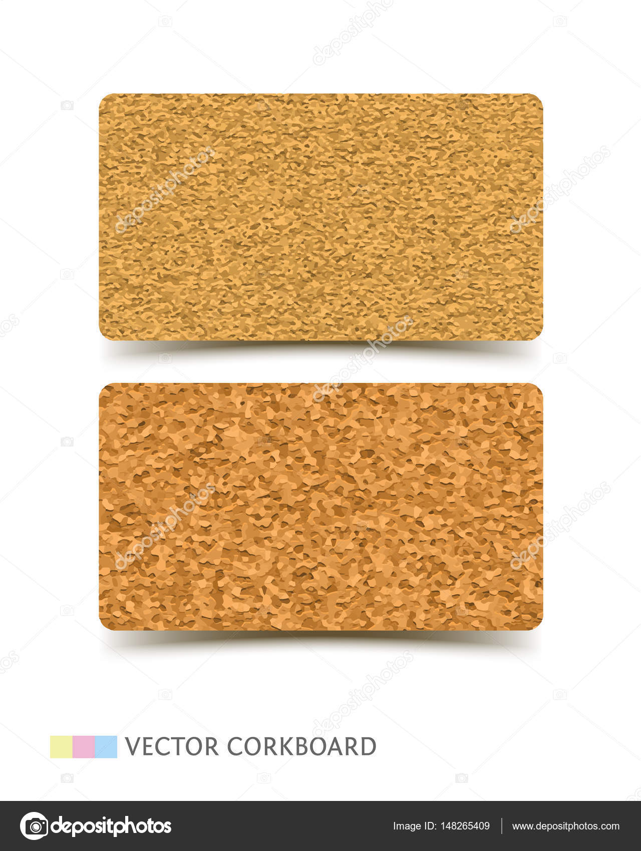Cork Conseil Texture Porte Cartes Vector Illustration Realiste Modele Pour Lentreprise Conception De Leducation Vecteur Par VoinSveta
