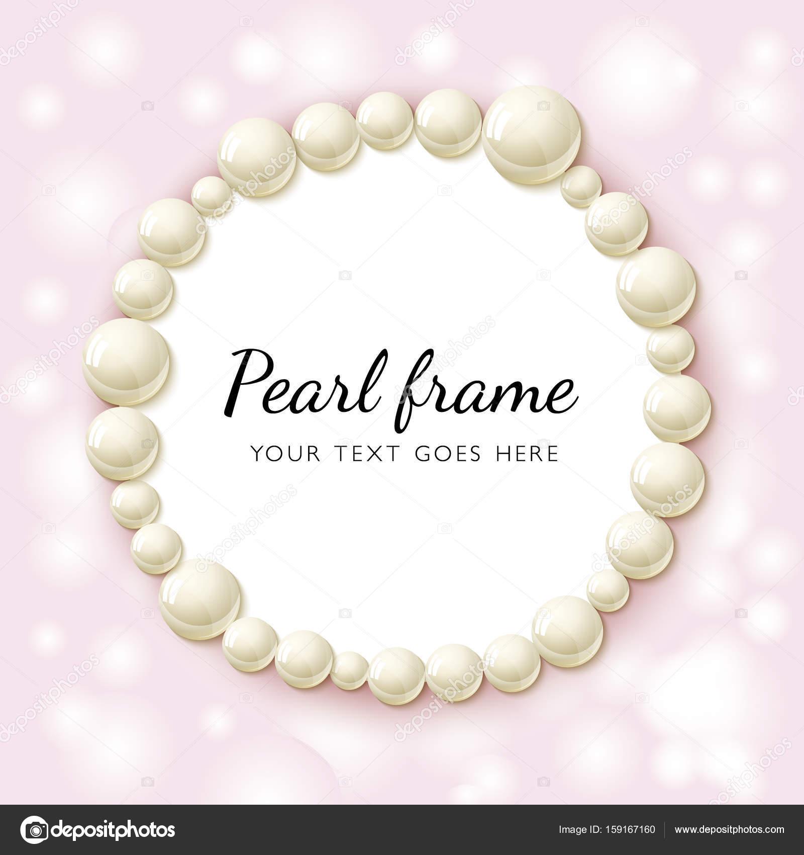 Marco de perlas — Archivo Imágenes Vectoriales © voinSveta #159167160