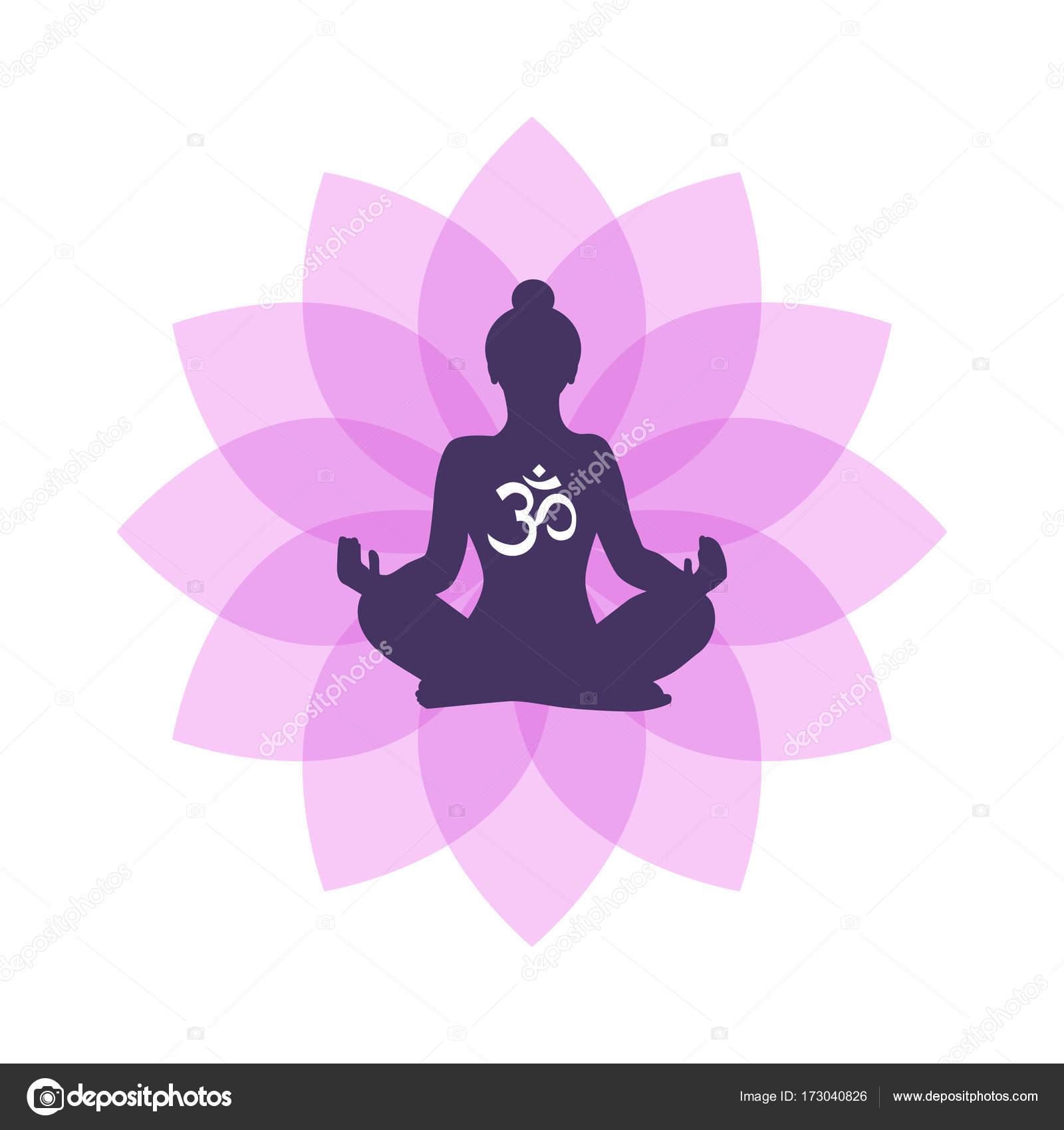 Lotus Yoga Logo Vektor Vorlage — Stockvektor © voinSveta #173040826