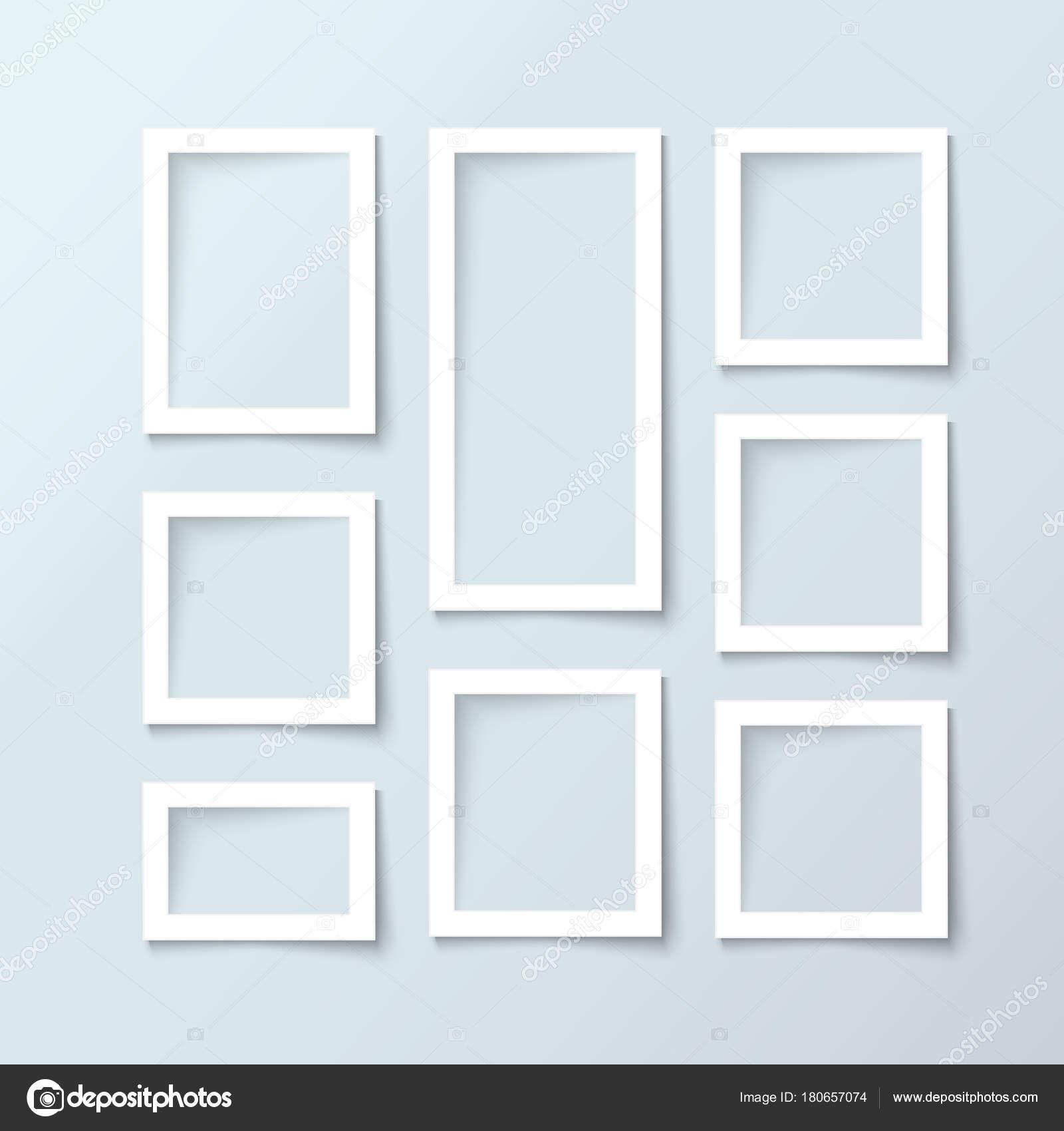 Realista vector de foto marco colección — Vector de stock ...