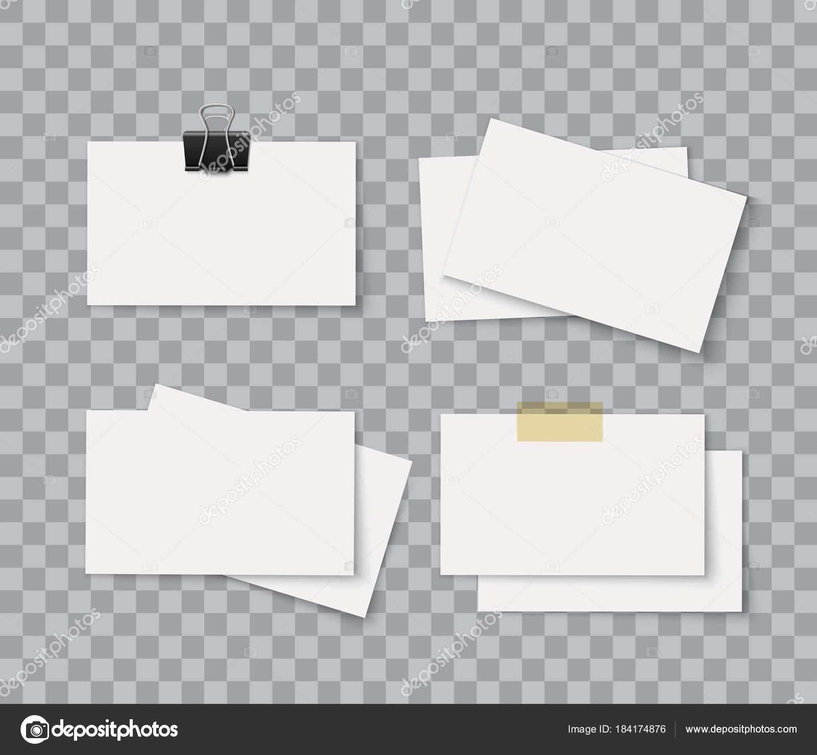 Pile De Carte Visite Vierge Identite Corporative Paquet Isole Sur Fond Transparent Modele Vectoriel Realiste Pour Le Design Presentation Vecteur
