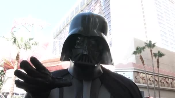 Darth Vader take to the streets of Las Vegas and gets close and personal with the camera.