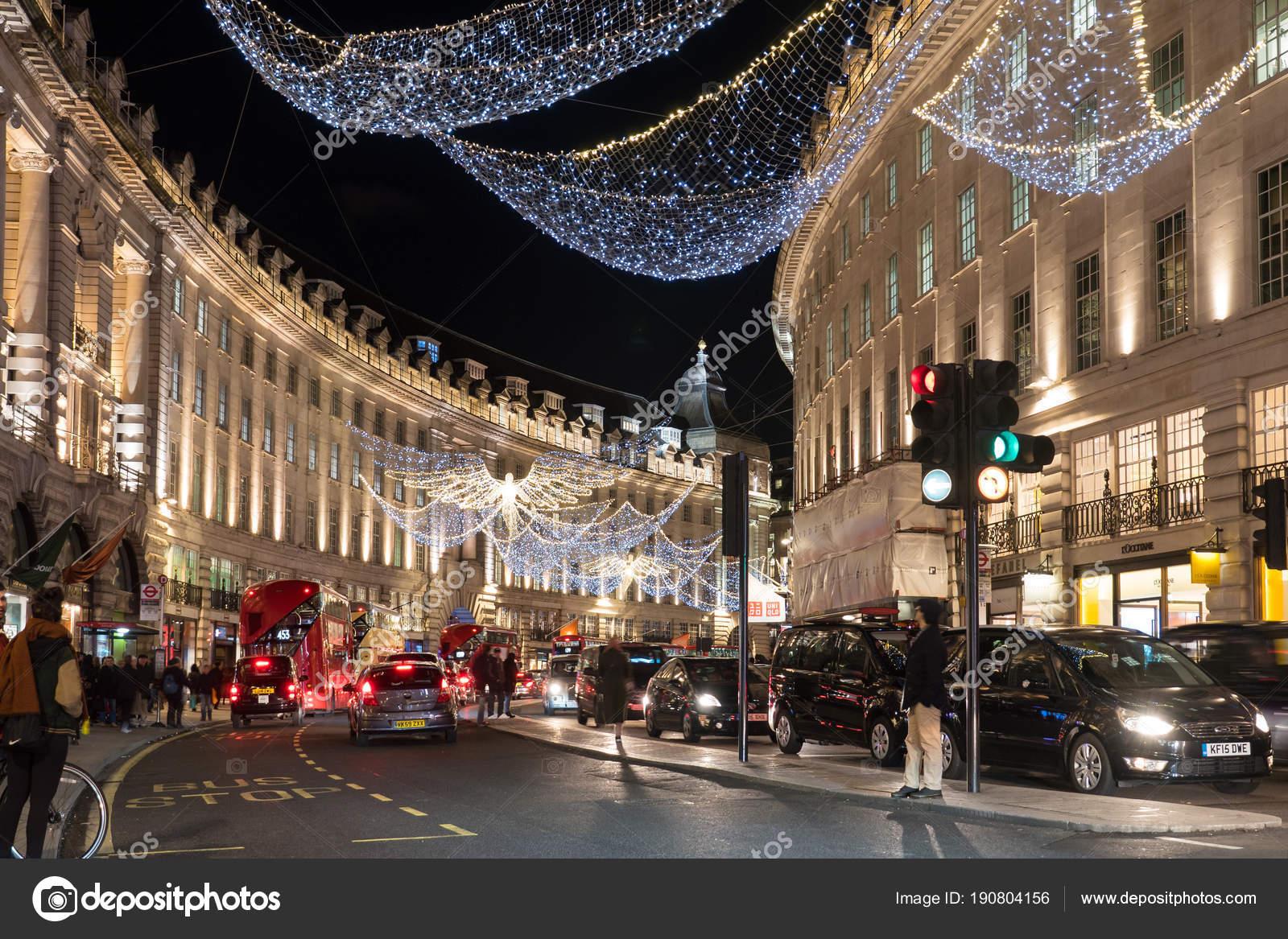 London Circa Januar 2018 Regent Street Der Weihnachtszeit Regent ...