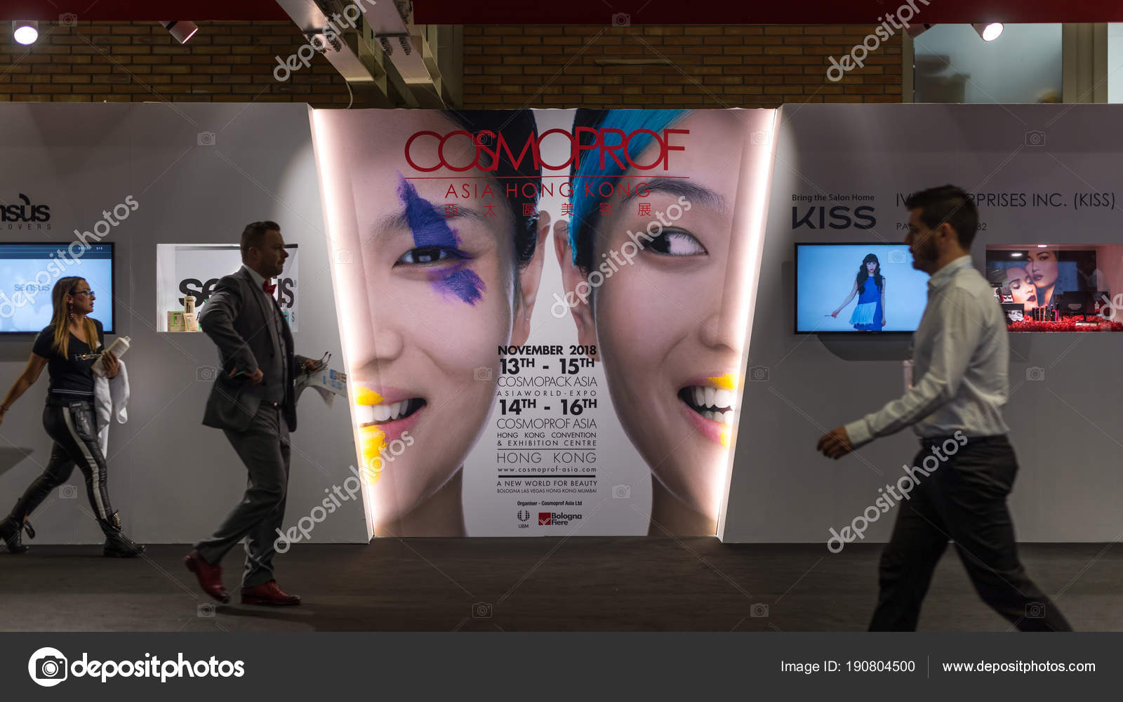Bologna Italy March 2018 Cosmoprof Exhibition Sign Largest