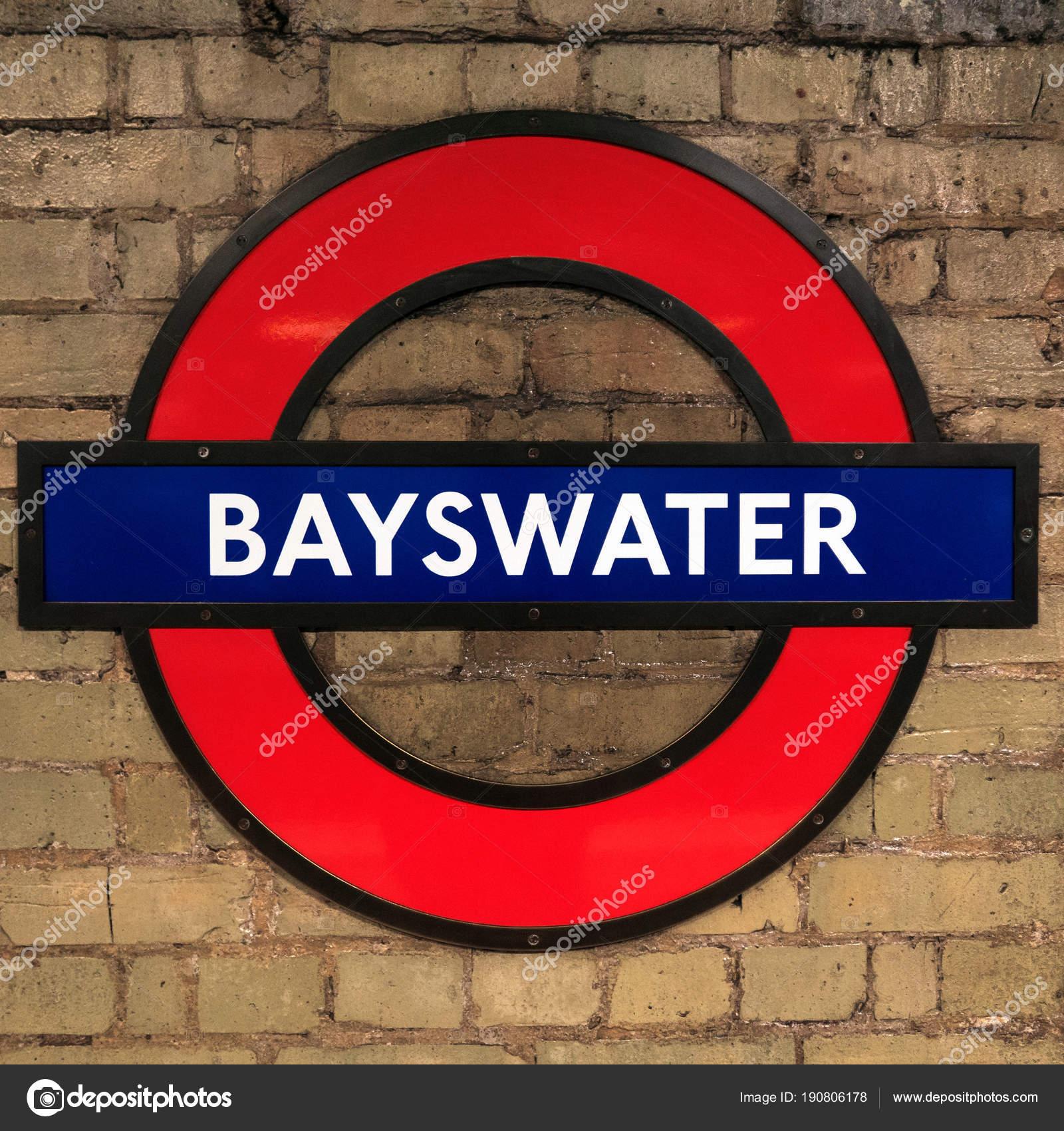 London United Kingdom Circa January 2018 Bayswater Station Symbol