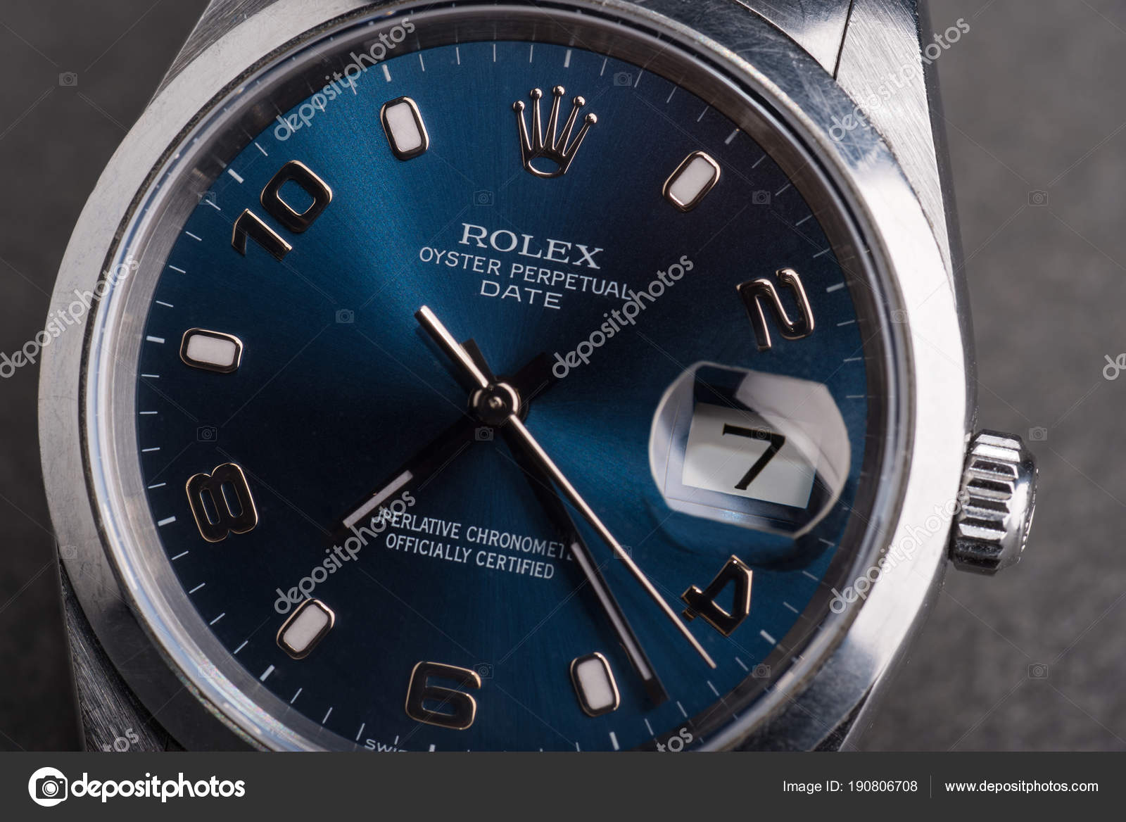 Bologna Italien März 2018 Rolex Oyster Perpetual Date Uhr