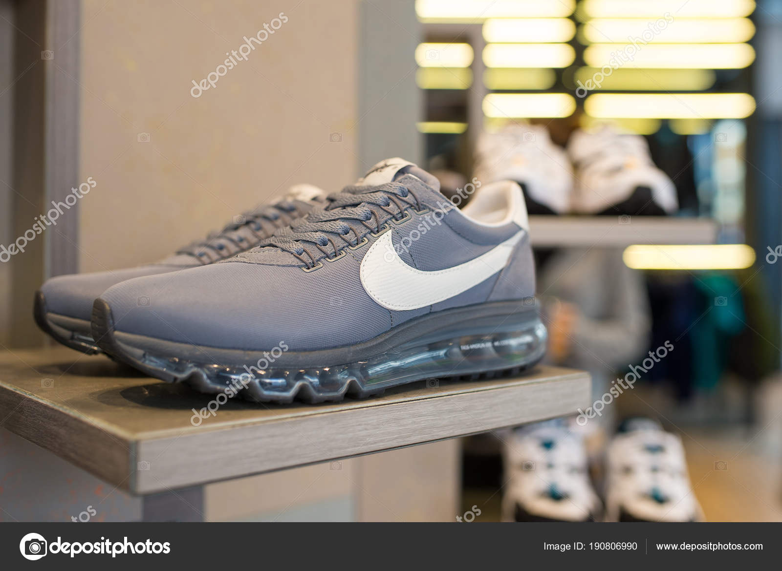 Milan Italy September 2016 Exposition Nike Sport Shoes Nike One ... 4a5efa51e