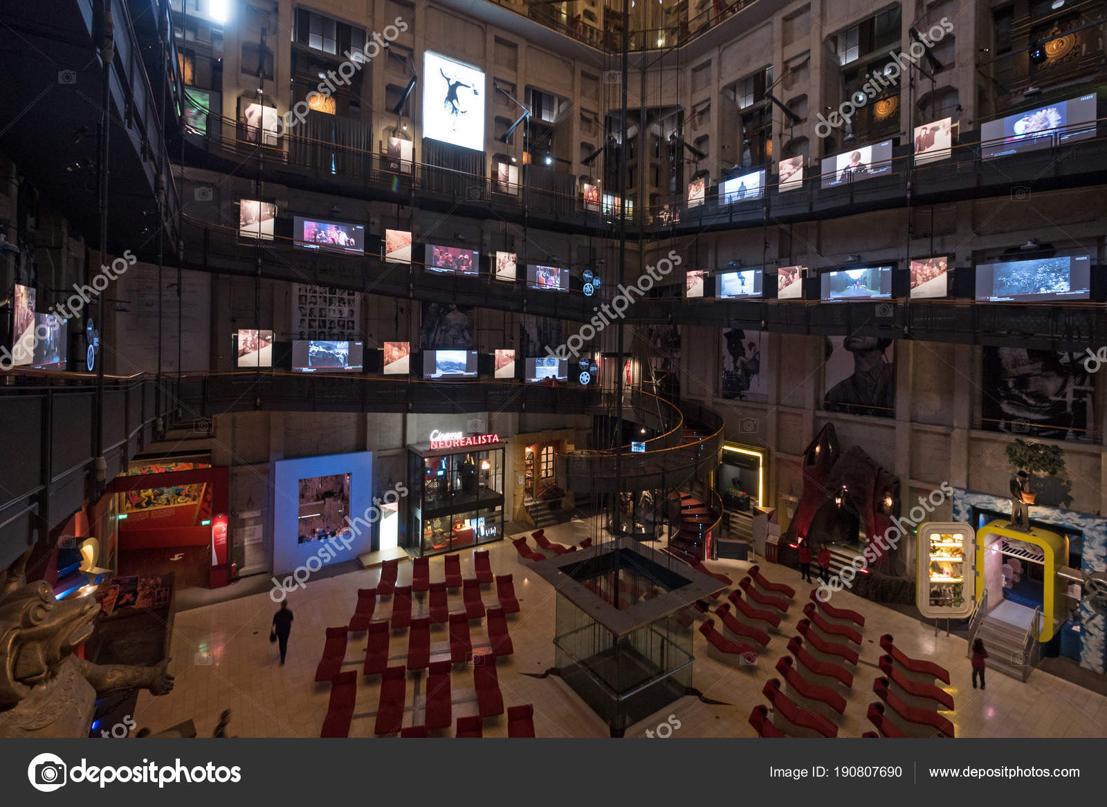 Museo Del Cinema.Turin Italy Circa February 2018 Museo Del Cinema International Movie