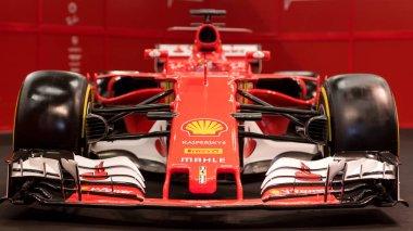 BOLOGNA, ITALY - CIRCA DECEMBER, 2017: Ferrari SF70H Formula 1 sports car at Motor show.