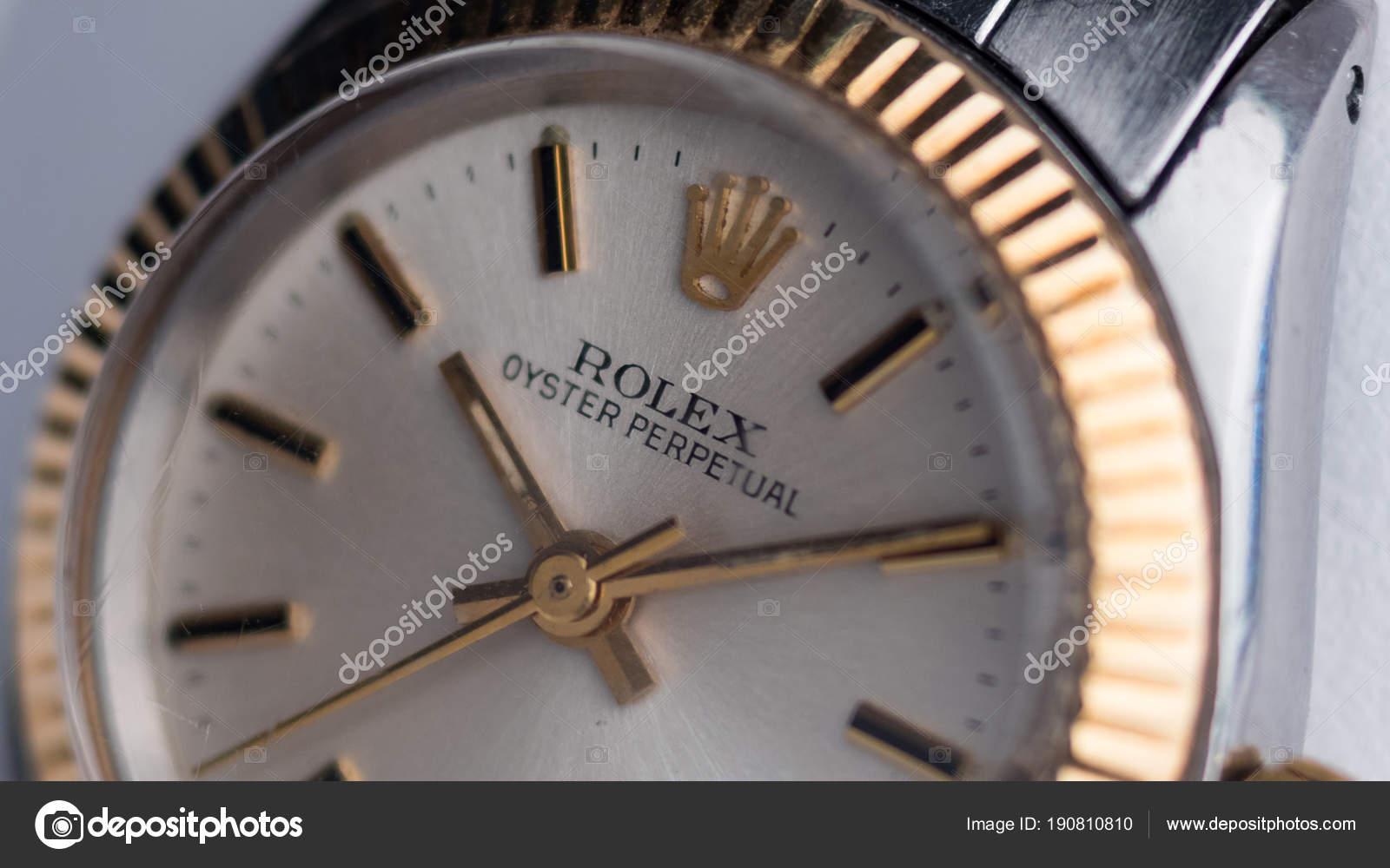Bologna Italien März 2018 Rolex Oyster Perpetual Vintage