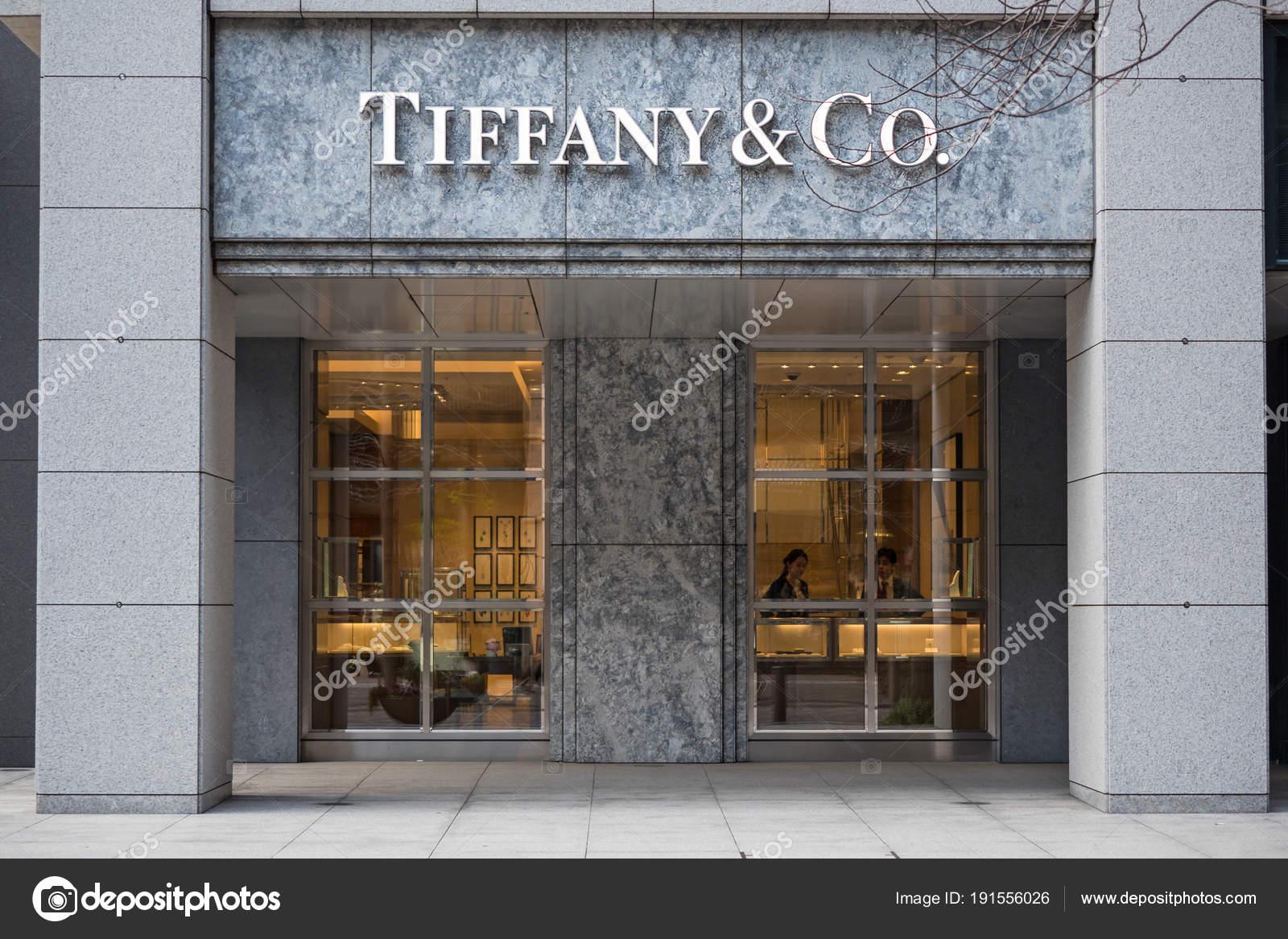 894d96c7a Tokyo Japan Circa March 2017 Tiffany Store Facade Tiffany Company — Stock  Photo