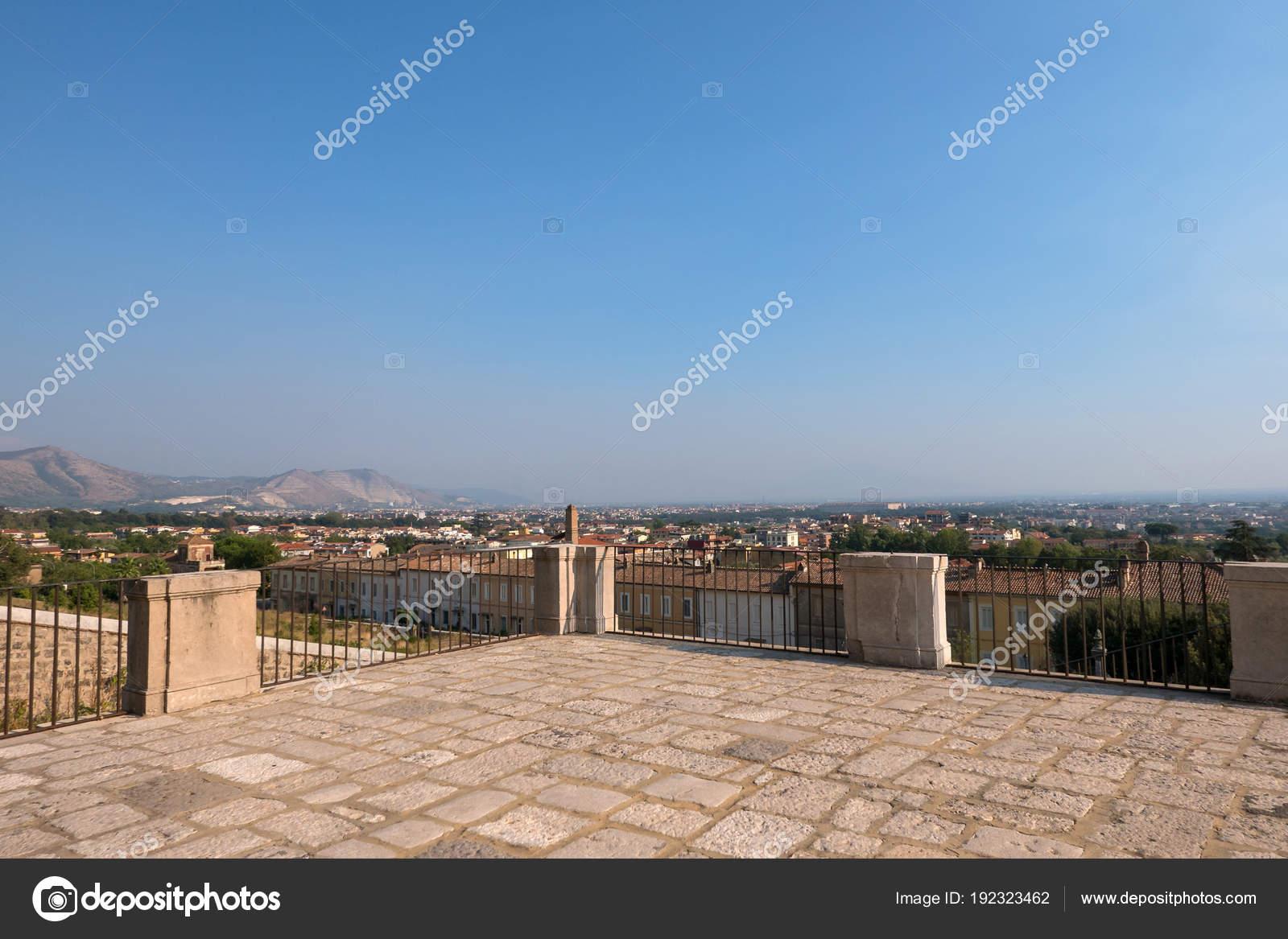 Caserta City Viewpoint San Leucio Caserta Italy Stock