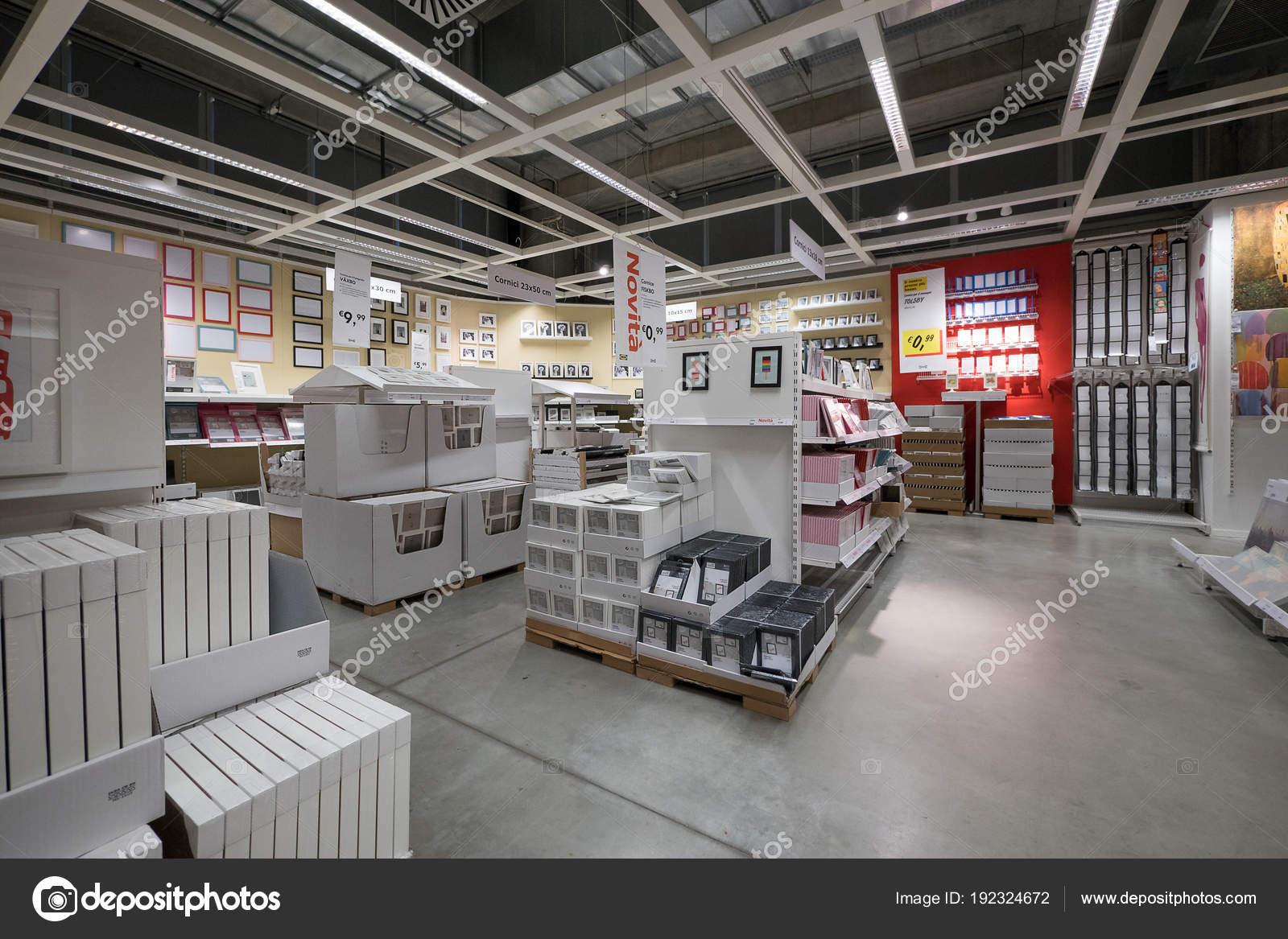 Bologna Italy April 2016 Interior View Ikea Store Ikea World Stock