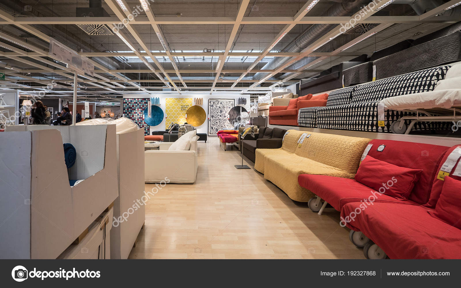 Bologna Italy Circa November 2016 Interior View Ikea Store Ikea