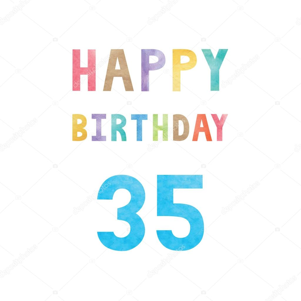 Gelukkig 35e Verjaardag Verjaardagskaart Stockvector C Gubgibgift