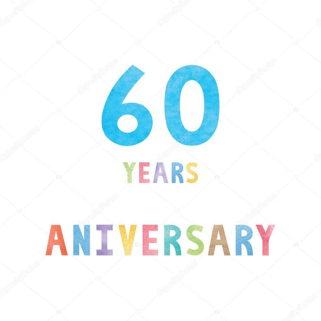 Carte De Fete Anniversaire 60 Ans Image Vectorielle Gubgibgift