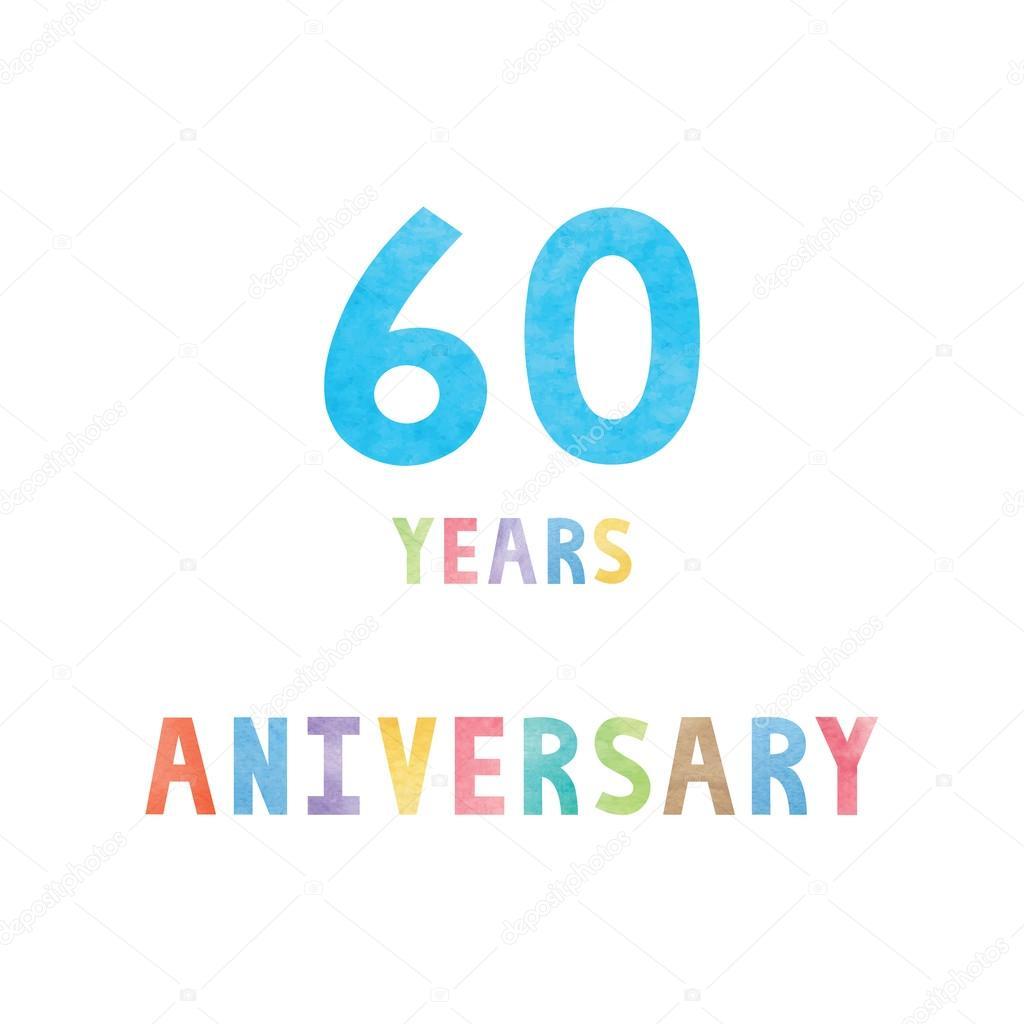 60 Jaar Verjaardag Viering Kaart Stockvector C Gubgibgift 127564880
