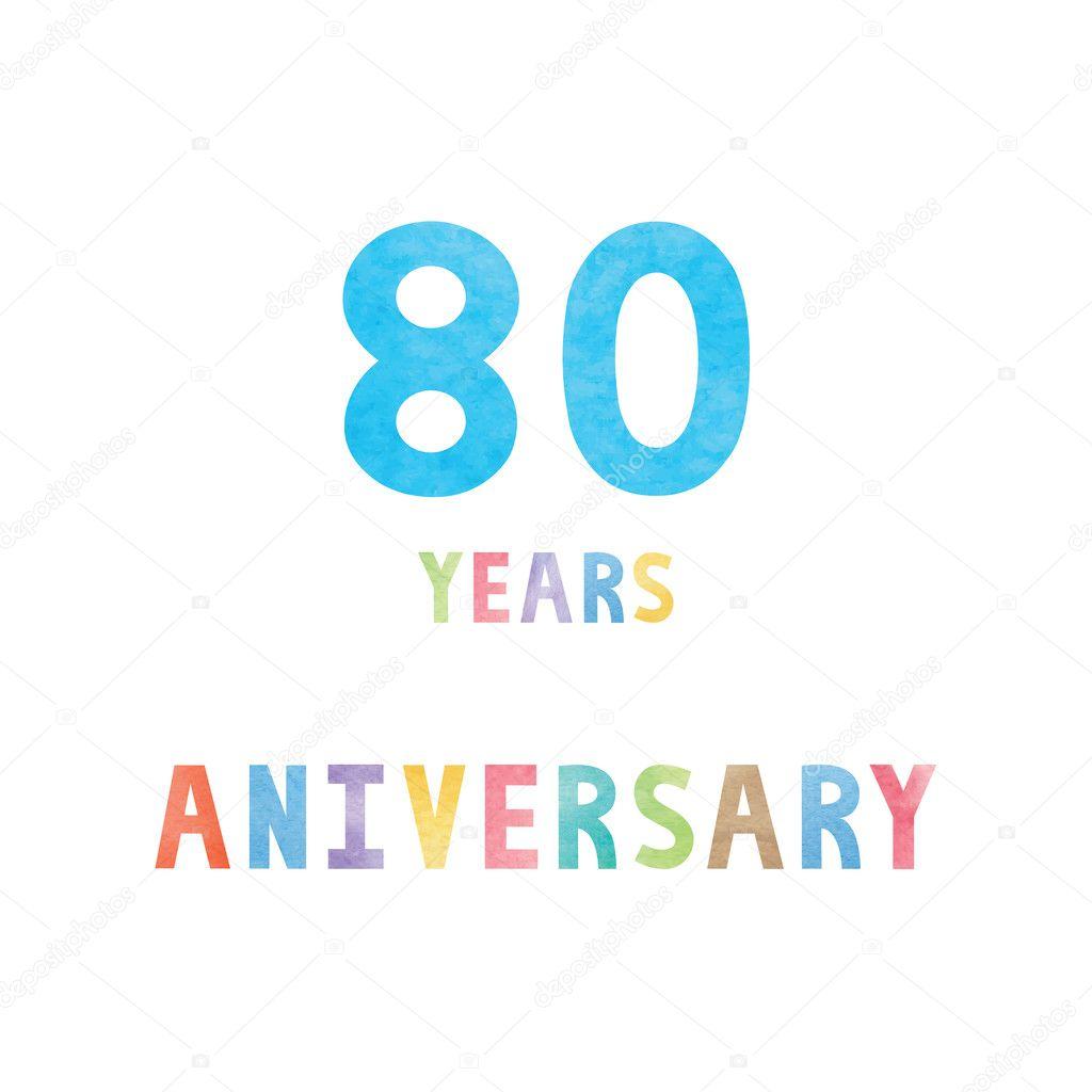 Carte De Celebration Anniversaire 80 Ans Image Vectorielle