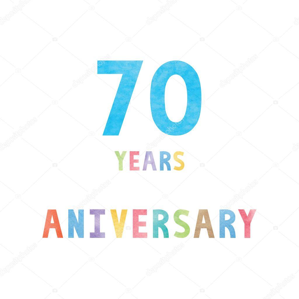 Carte De Celebration Anniversaire 70 Ans Image Vectorielle