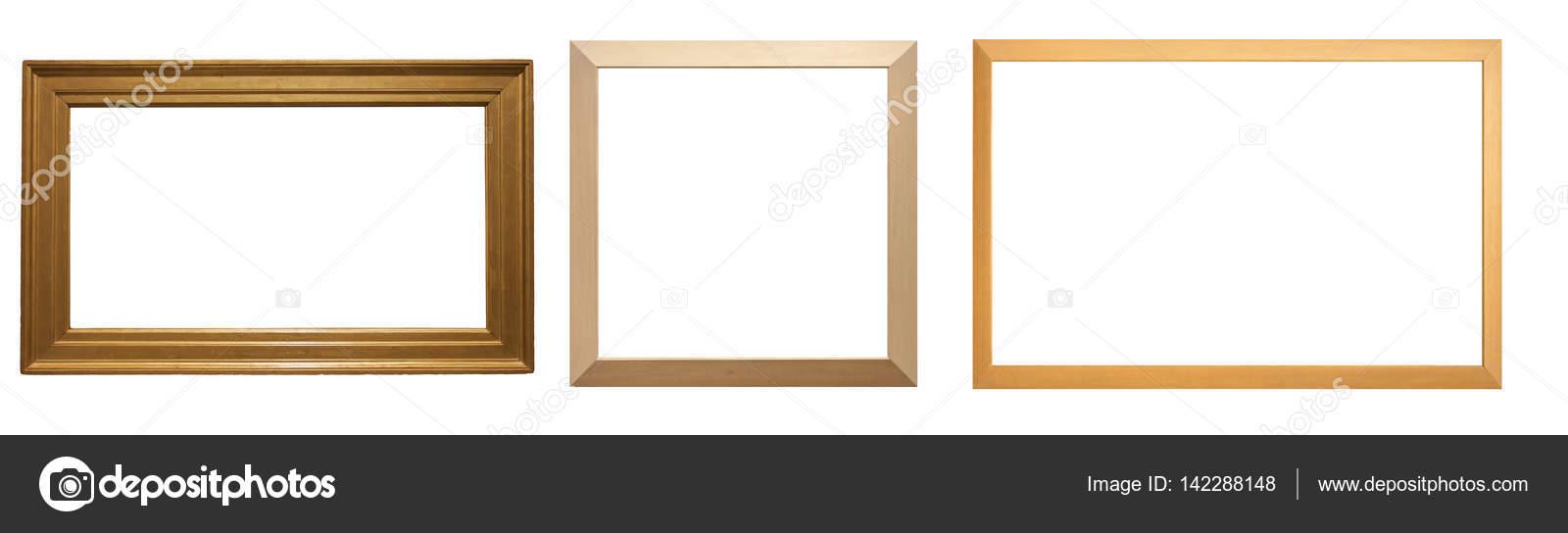 wooden frames on white background — Stock Photo © mrxiao #142288148
