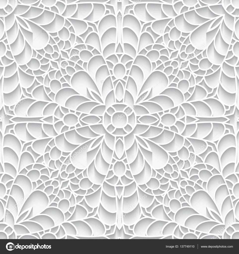Textura de encaje de papel, de patrones sin fisuras — Vector de ...