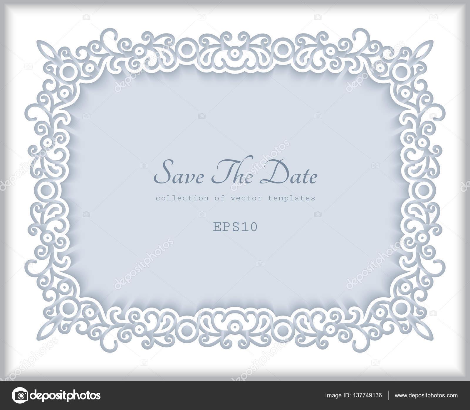 Rechtecks Papier-Rahmen, Grußkartenvorlage — Stockvektor © magenta10 ...