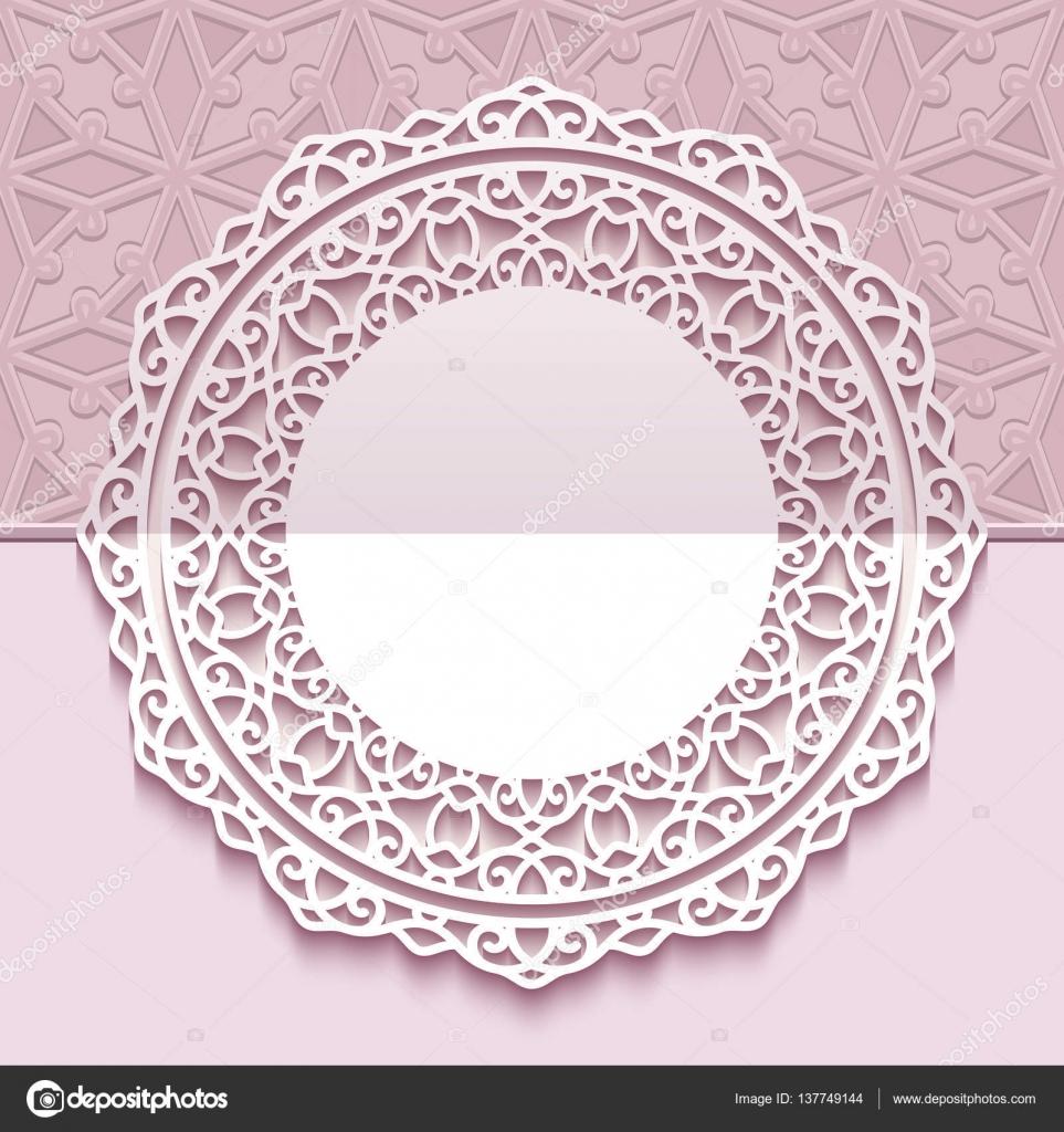 Runde Spitze Rahmen, Grußkarten-Vorlage — Stockvektor © magenta10 ...