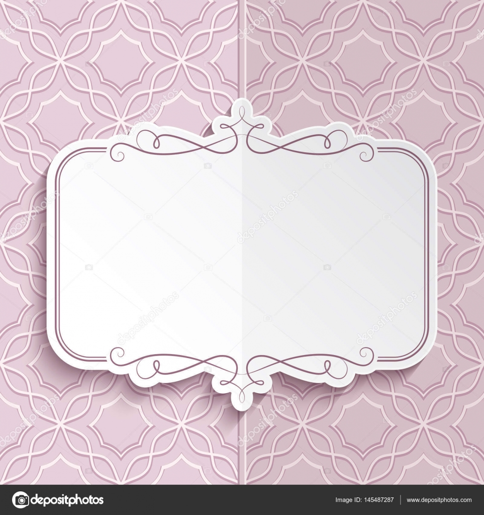 flourish frame folded card template stock vector magenta10