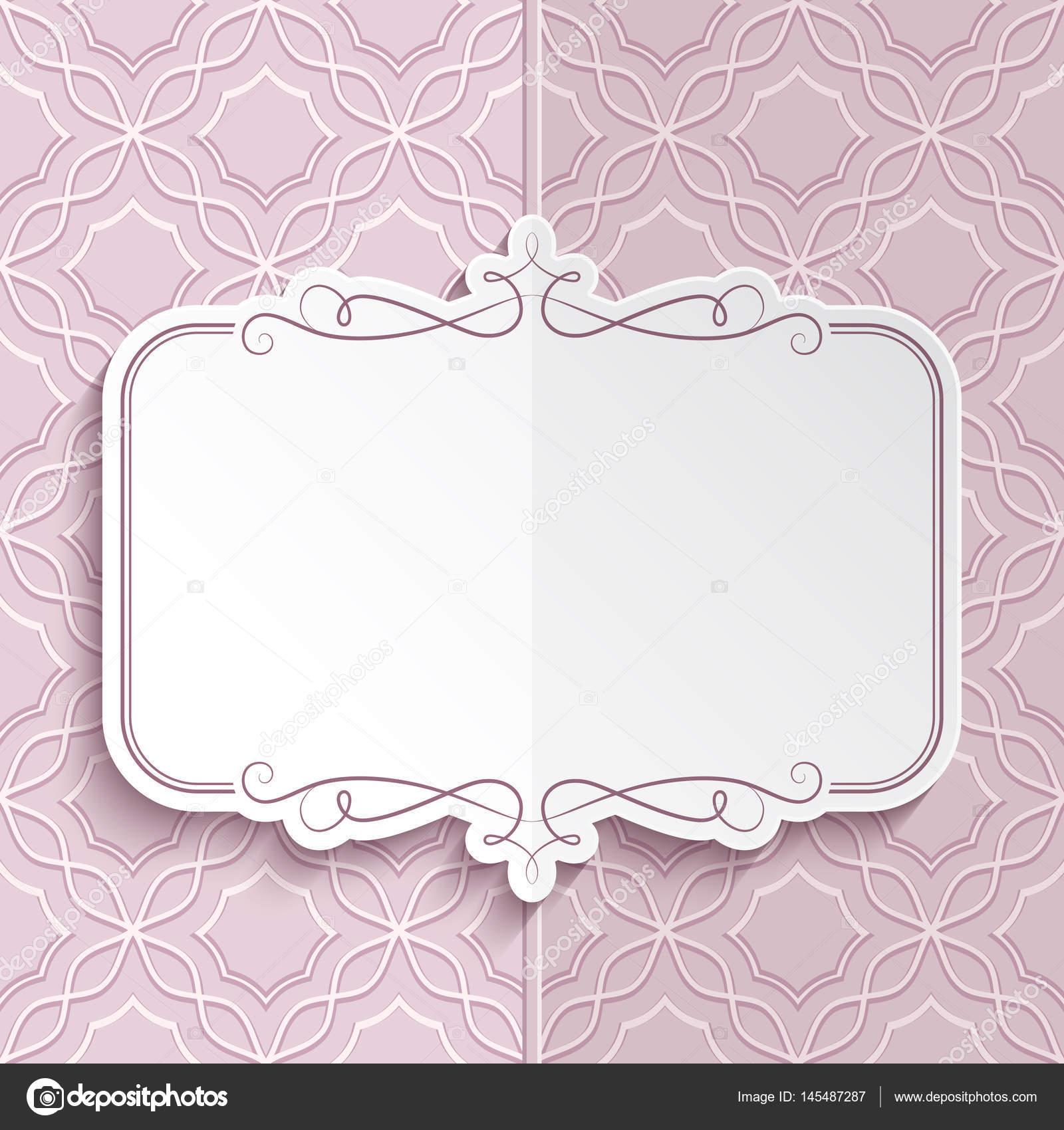 Flourish frame, folded card template — Stock Vector © magenta10 ...