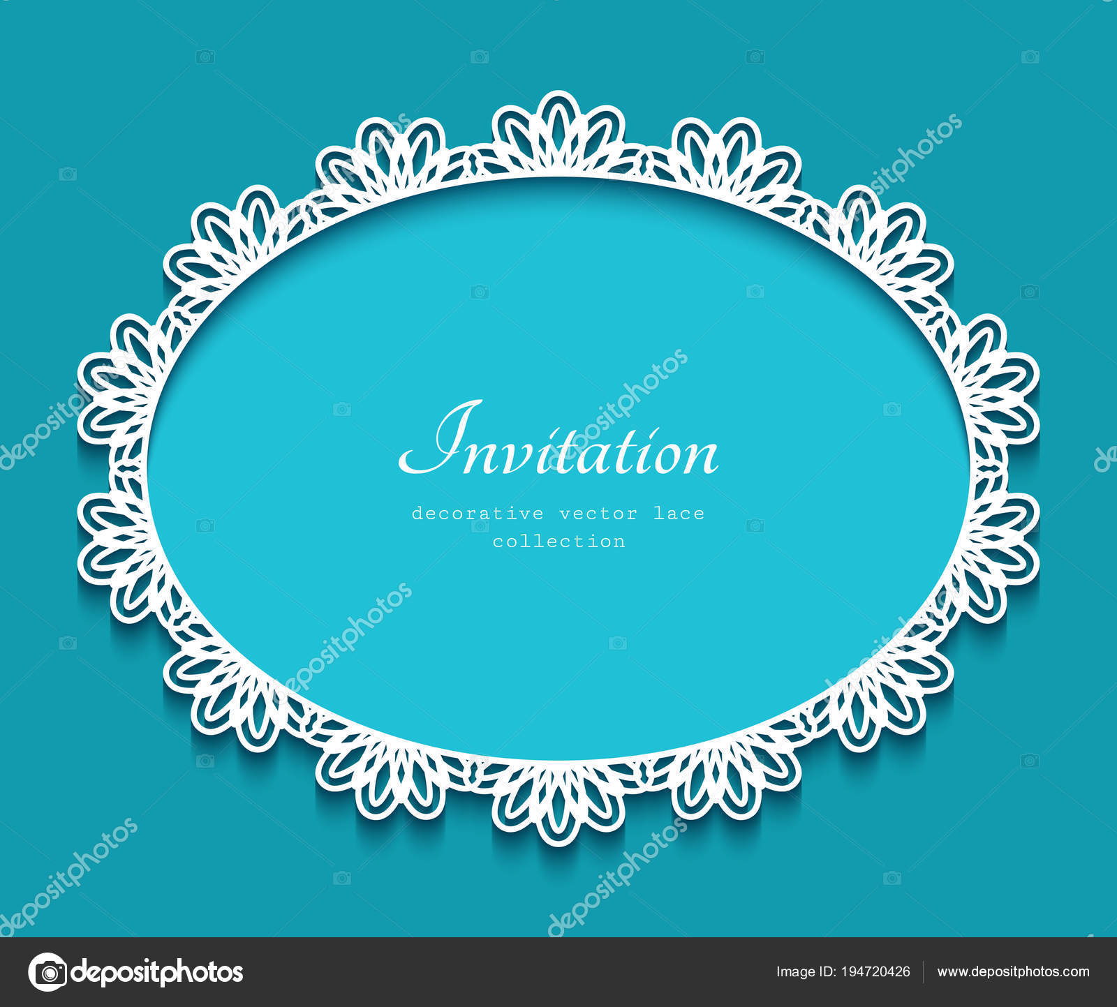 Oval Frame With Lace Border Pattern, Cutout Paper Ornament, Elegant  Decoration For Greeting Card Or Wedding Invitation, Laser Cutting Or Wood  Manufacturing ...