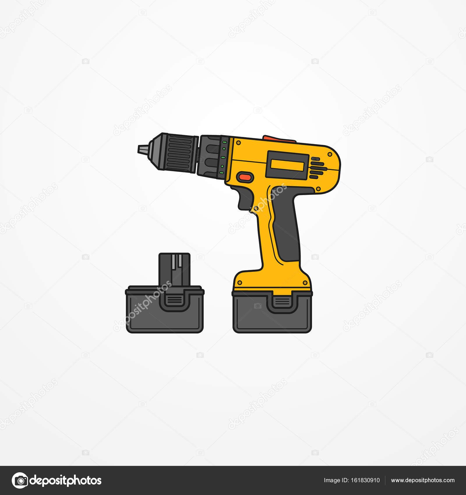 elektro akkuschrauber vektor-bild — stockvektor © zag_awd #161830910