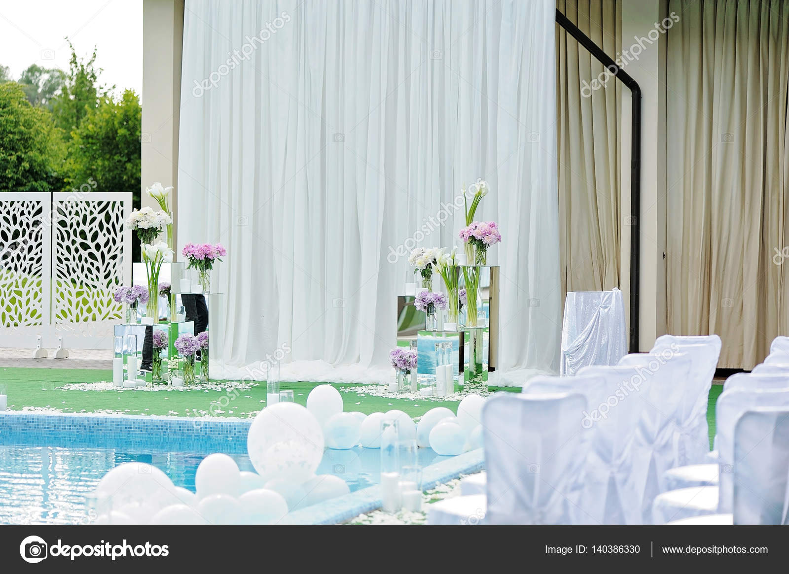 Pool Wedding Decor Decorations For The Wedding Ceremony By