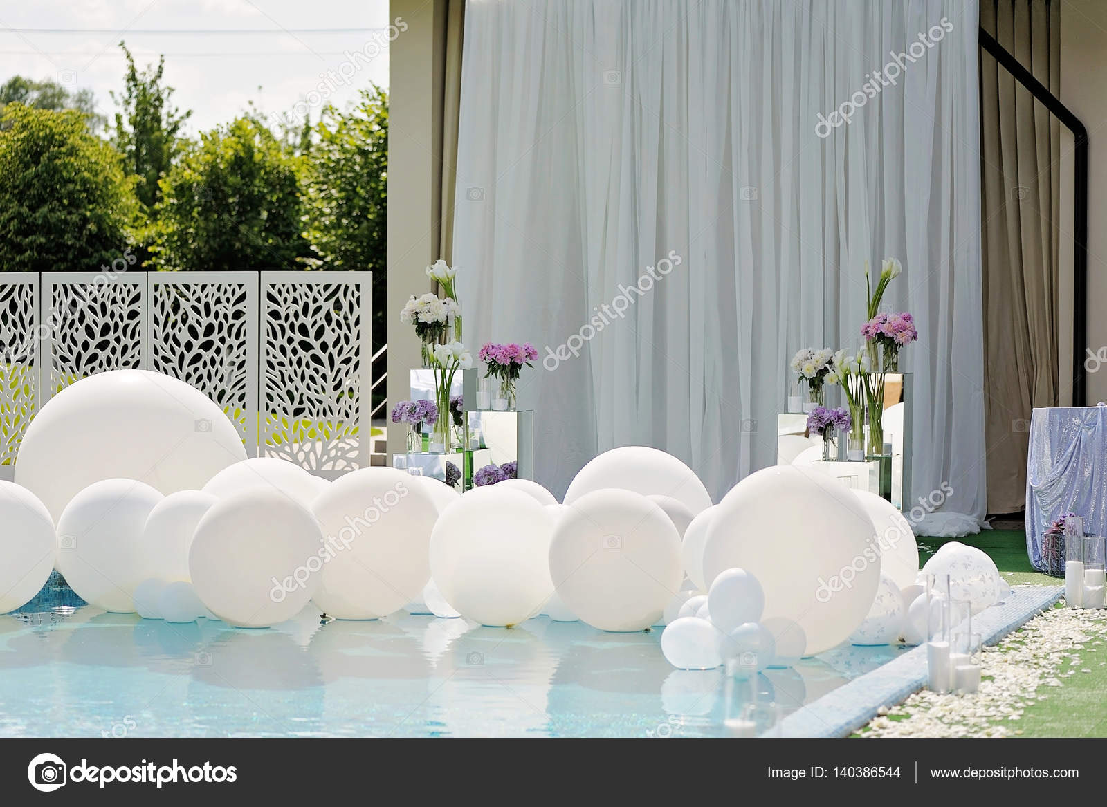 Pool Blue Wedding Reception Decorations Decorations For