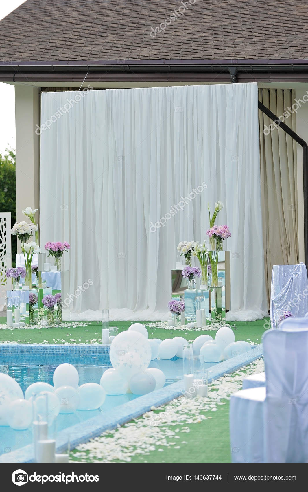 Pool Blue Wedding Decorations Decorations For The Wedding
