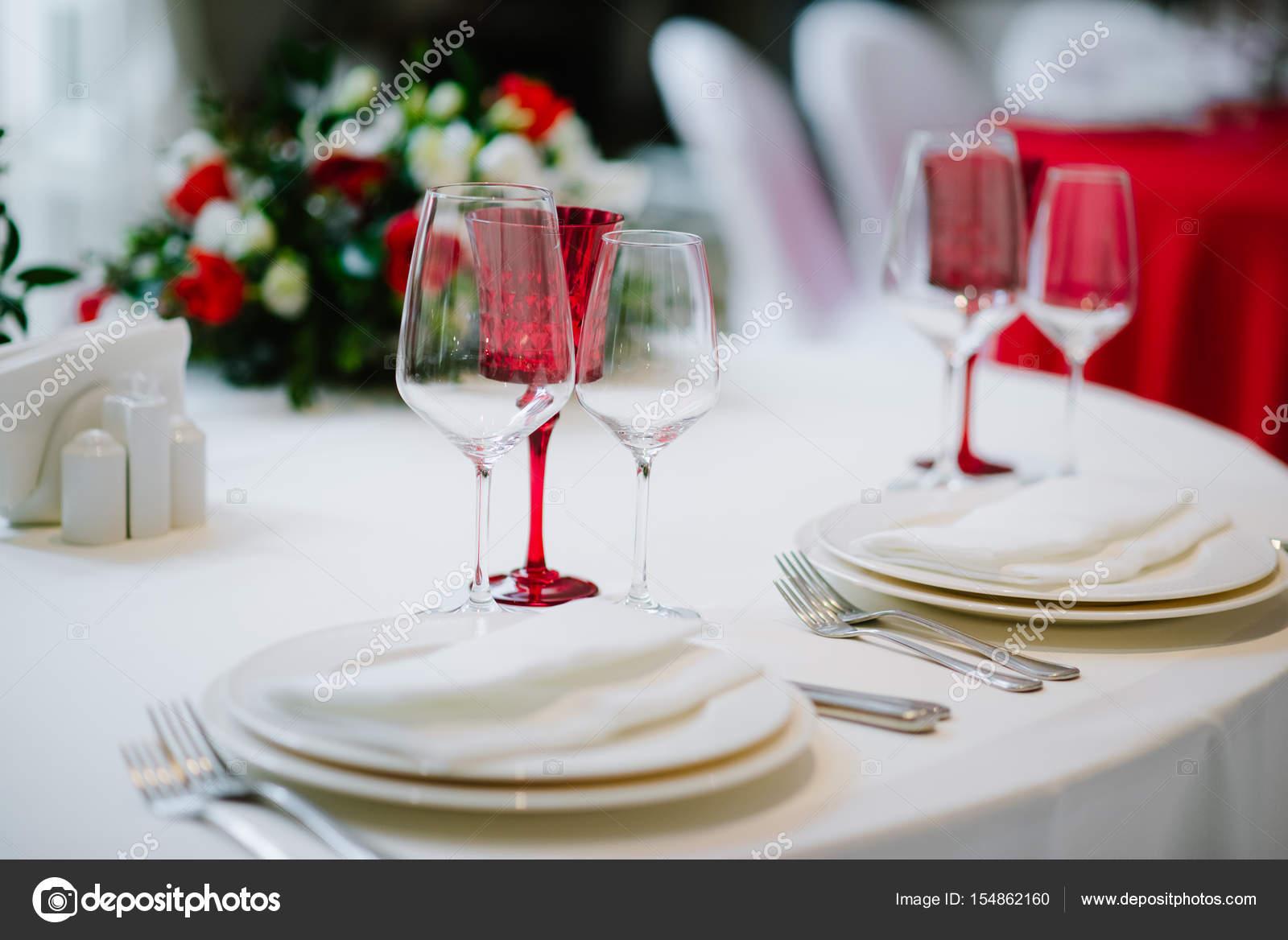 Mooi voorbeeld van luxe decoratie van tabel u stockfoto