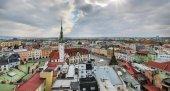 Panorama panorama města Olomouc, Česká republika.