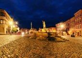 Dolní náměstí Olomouc, večer, Česká republika