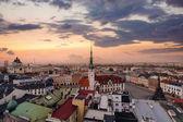 Panorama města Olomouc večer.